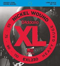 D'Addario EXL230 XL NICKEL BASS STRINGS, HEAVY GAUGE 4 string set - 55-110