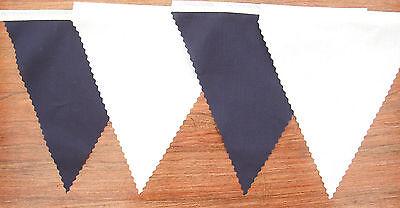 Bleu Marine /& Blanc Tissu Bunting Mariage Décoration 22ft//6.8mt Achetez 3 payer 2