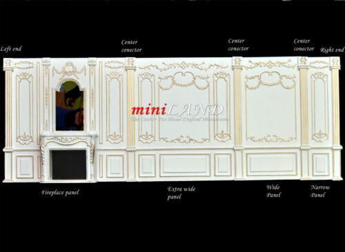Center conector column 1pc Royal Paneling WH Dollhouse miniature 1:12 DIY part