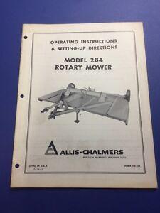 Allis Chalmers  284 Rotary Mower Operator/'s Manual