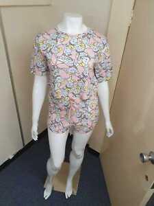 acheter en ligne énorme réduction moins cher Détails sur Disney Dumbo Pyjama Ensemble Imprimé Femmes Taille Haute Court  Salon Vêtement