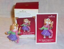 Hallmark 2005 MY THIRD CHRISTMAS Child's Age 3rd Keepsake Ornament GIRL Kitten