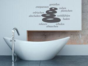 Wandtattoo Badezimmer Sprüche Wortwolke Wellness Nr 2 Erholung ...