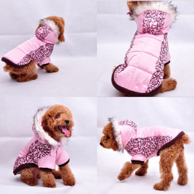 Fall Winter Dogs Clothing Wear Coats Pink Camo Dog Jacket Sweater Coat Warm Cute