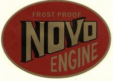 Frost Proof Novo Decal 5 3/4 x 4 Gas Engine Motor Flywheel Antique