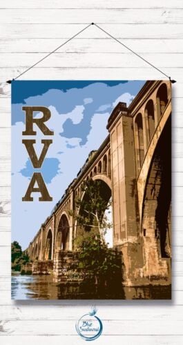 Trestle Bridge Train RVA LARGE House Flag VA Richmond