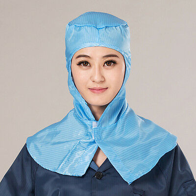 Stripe Anti Static Work Hat PC ESD Lab Working Dust Cap Clean Room Hooded Shawl