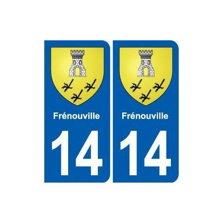 14 Frénouville Blason Ville Autocollant Plaque Sticker