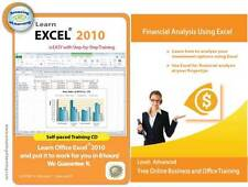 Learn Microsoft Excel 2010 and Financial Analysis Skills Using Excel Training