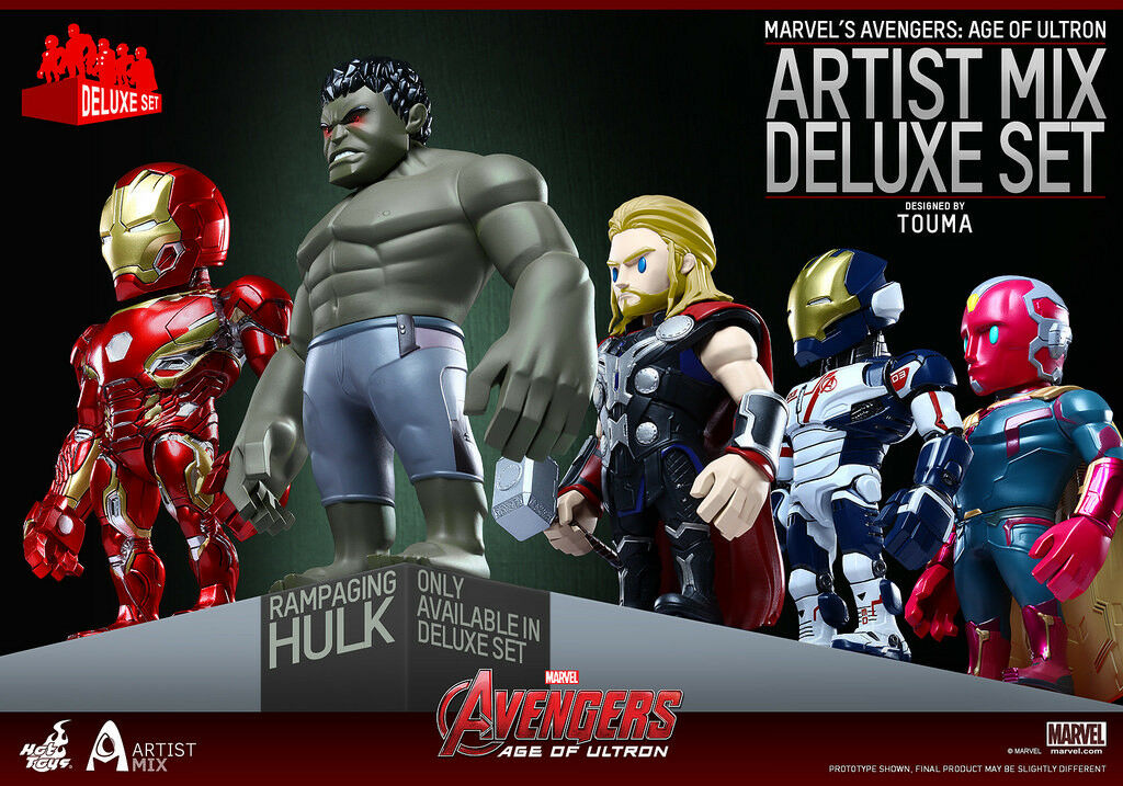 Hot Toys Avengers Age of Ultron Artist Mix Collectible Figure Set of 5 Series 02