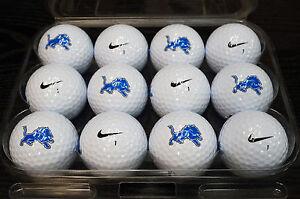 1-Dozen-Detroit-Lions-NFL-Logo-Nike-MOJO-Mint-Golf-Balls