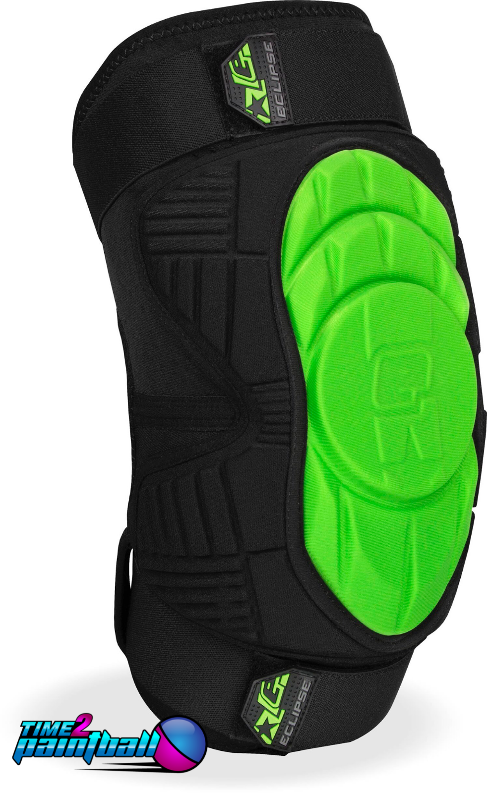 Planet Eclipse Overload HD Core verde Knee Pads  2XL