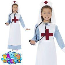 Kids Army Officer Costume WW1 Nurse Outfit WW2 Boys Girls Book Day Fancy Dress