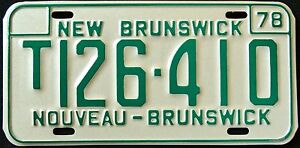 CANADA-034-NEW-BRUNSWICK-NOUVEAU-034-1978-MINT-Vintage-Classic-License-Plate