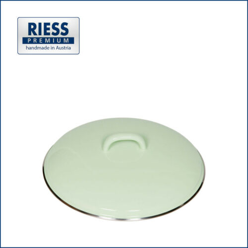 22 cmOriginal RiessQualitätsemaillePastell Grün Topfdeckel