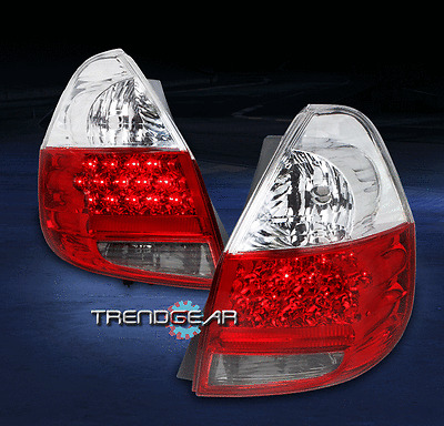 2006 2007 2008 HONDA FIT HATCHBACK 4DR LED TAIL BRAKE LIGHTS REAR LAMP RED/CLEAR