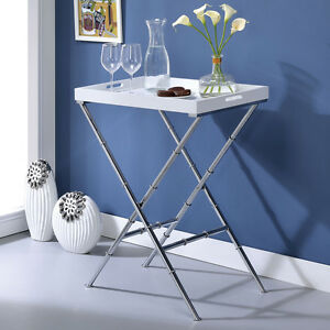 Image Is Loading Lajos Rectangular Dining Serving Serve Tray Table Stand