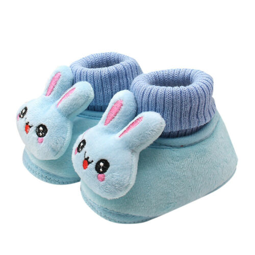 Lovely Rabbit Crib Shoes Toddler Boys Girls Crib Shoes Soft Sole Warm Crib Shoes