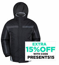 Mountain Warehouse Mens Ski Jacket Fleece Lining Water Resistant Winter Coat