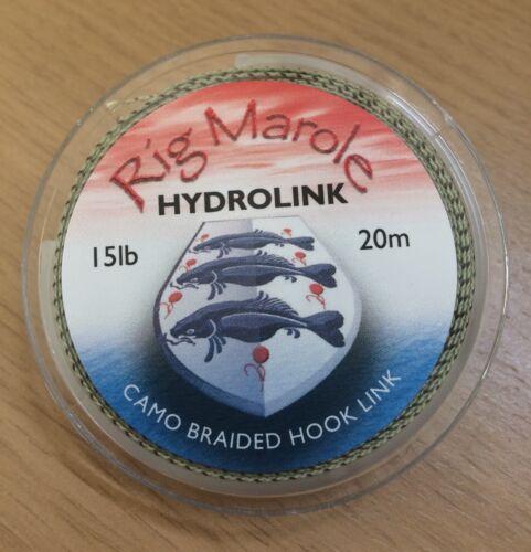 Rig Marole Hydrolink 15lb or 25lb   Green Camo Black Camo or Grey
