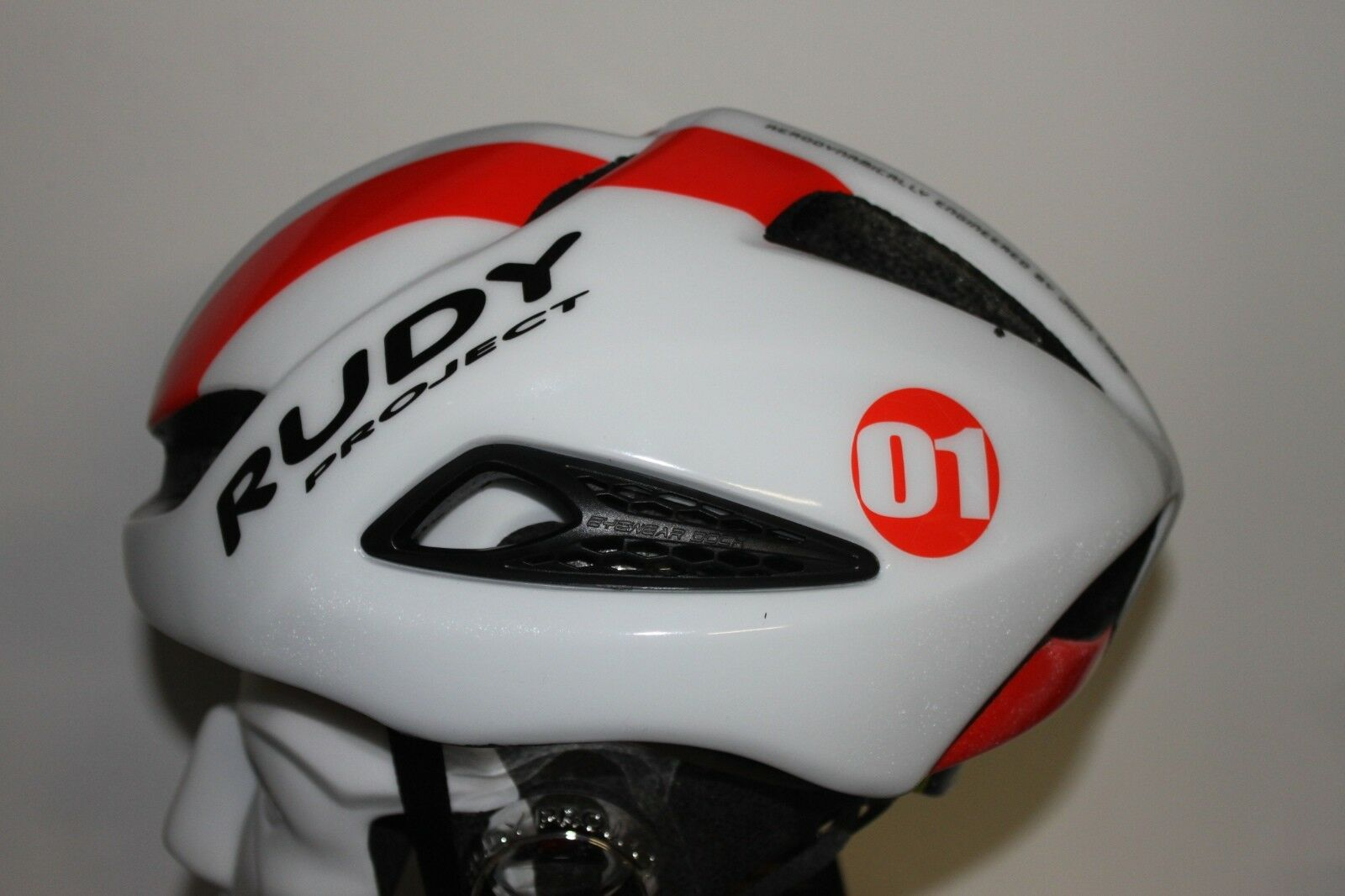 Rudy Project Boost 01 Helmet White-Red Fluo (Shiny) (2018) Size L