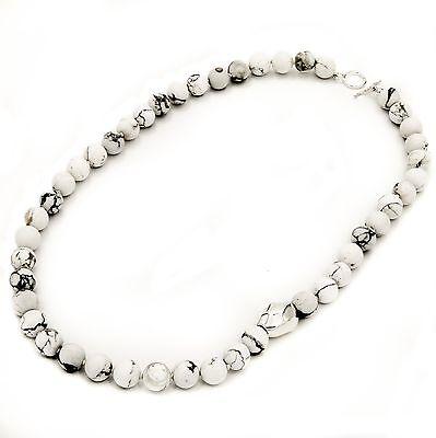 Simon Sebbag Matte Picasso Jasper Necklace Sterling Silver Bead NB120//MPJR24
