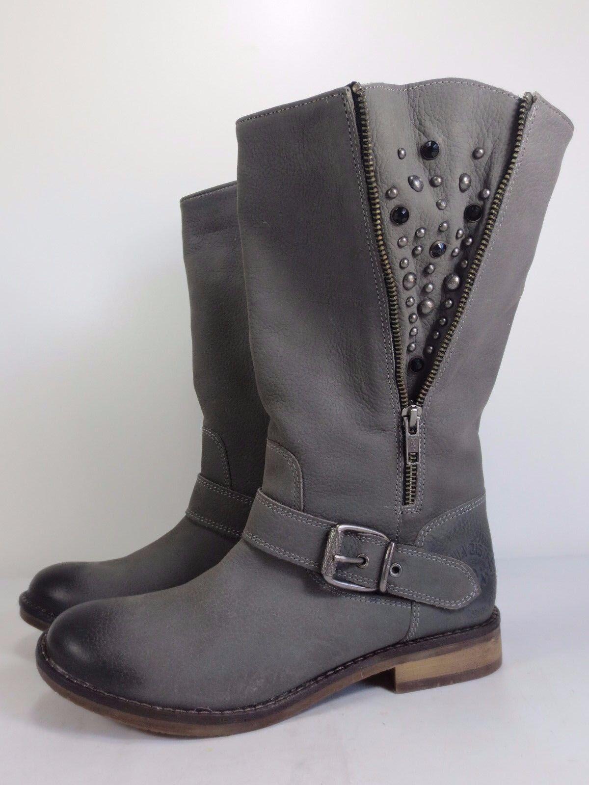 S.OLIVER lässige Stiefel Leder Schuhe Stiefeletten grau NEU 109,90 Stiefel