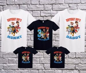 Image Is Loading Paw Patrol Family Custom Birthday Shirt Personalized T