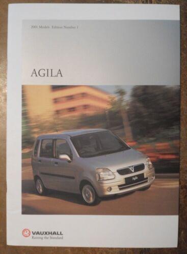 VAUXHALL AGILA Range orig 2001 UK Market Prestige Sales Brochure Edition 1