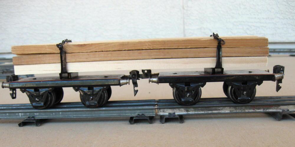 Marklin O-Gauge   Scale 1930's Langholtzwagen (Long Log Carrier) RARE 1961G