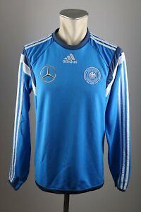 new lifestyle buy online detailed look Detalles de Alemania camiseta talla s adidas entrenamiento camisa azul 2016  em dfb Mercedes Benz- ver título original