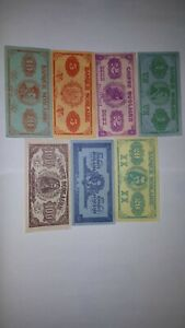 Collection-CANADIAN-SCHOOL-paper-MONEY-7x-1920-1-2-5-10-20-50-100