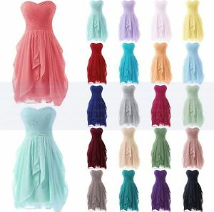 New-Bridesmaid-Dress-Formal-Short-Evening-Cocktail-Ball-Gown-Party-Prom-Dresses