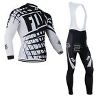 Az052 Thermal Fleece men's long sleeve cycling jersey set Bib pants Winter Fit