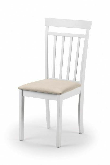 Julian Bowen Coast White Dining Chairs Set Of 2 Wood 2 Piece