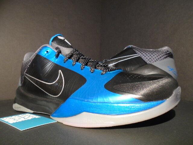 sale retailer 08c09 39e72 2010 Nike Zoom Kobe V 5 Dark Knight Black Grey Neptune Blue Silver  386429-001 11