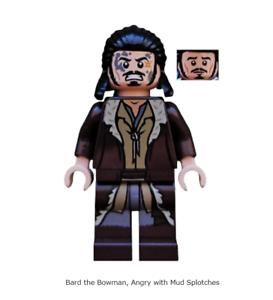 Lego Minifigure Bard the Bowman Angry with Mud Splotches from the Hobbit