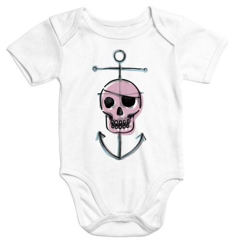 Baby Body Piraten Baby Skull Totenkopf mit Anker  Moonworks®