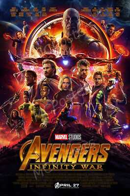 24X36 or 16X24 Premium Gloss Poster Infinity War Iron Man Movie Poster