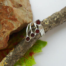 Granat, facettiert, rund, rot, modern, neu, Ring, Ø 18,5 mm, 925 Sterling Silber