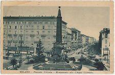 MILANO - PIAZZALE VITTORIA - MONUMENTO ALLE CINQUE GIORNATE 1931