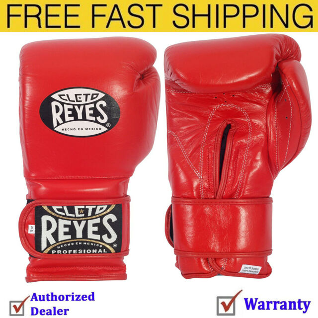 Cleto Reyes Hook and Loop Leather Training Boxing Gloves Gold 16 oz