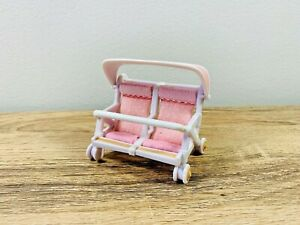 Sylvanian-Families-Double-Baby-Pushchair-Pram-Twins-Pink-Set