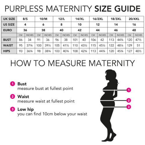 Purpless Maternity Workwear Asymmetric Elasticated Belly Band Skirt Dress 1508