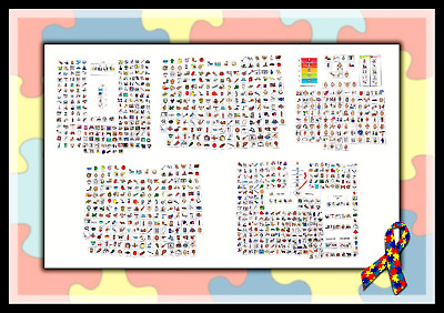 1000 Pecs Cards Boardmaker Symbols And Charts Autism Visual Aid Schedule Ebay