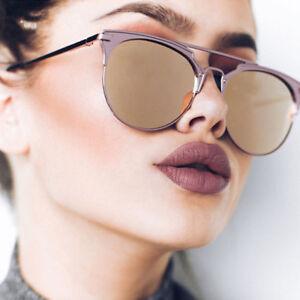 selezione migliore 004db 5001b Dettagli su 😍 2018 LUSSO Cat Eye occhiali da sole 100% UV400 Donna  Oversize Rotondo Fashion 😍- mostra il titolo originale