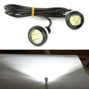 2-piezas-12v-15w-Coche-Luz-De-Marcha-Atras-ojo-Aguila-LED-Dia-Funcionamiento