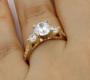 2-Ct-14K-Real-Yellow-Gold-Round-3-Stones-Wedding-Engagement-Propose-Promise-Ring