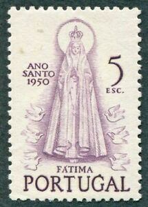 PORTUGAL-1950-5E-SG1038-mint-MH-FG-Holy-Year-Our-Lady-of-Fatima-W41