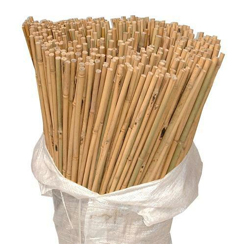 100 x 7ft Heavy Duty Bamboo Garden Canes Strong Thick Quality Plant Support